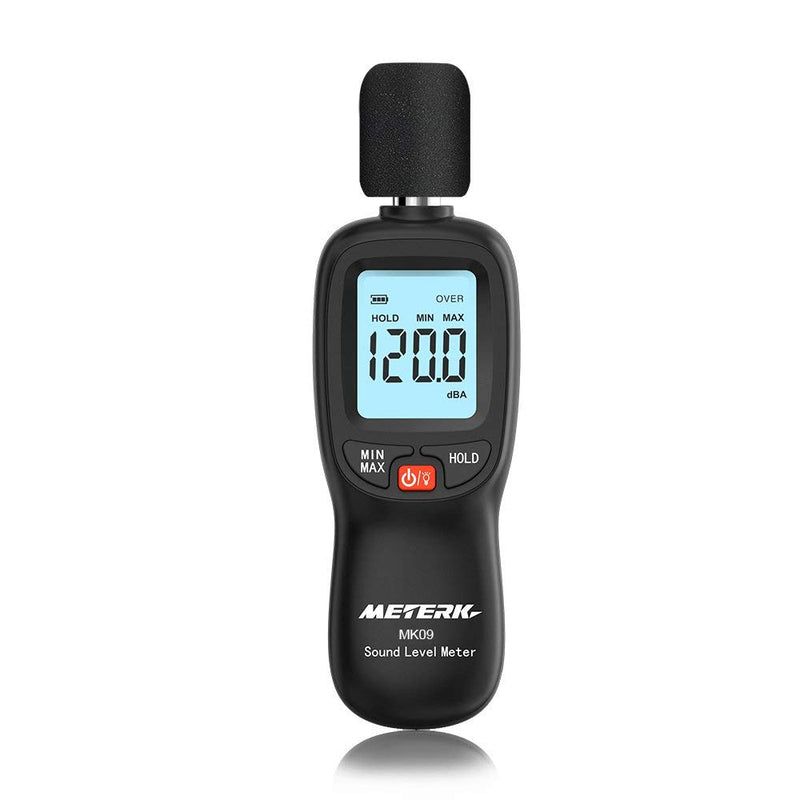 Australia Decibel Meter,Meterk Digital Sound Level Meter, Range 30-130dB(A) Noise Volume Measuring Instrument Self-Calibrated Decibel Monitoring Tester(Battery Included)