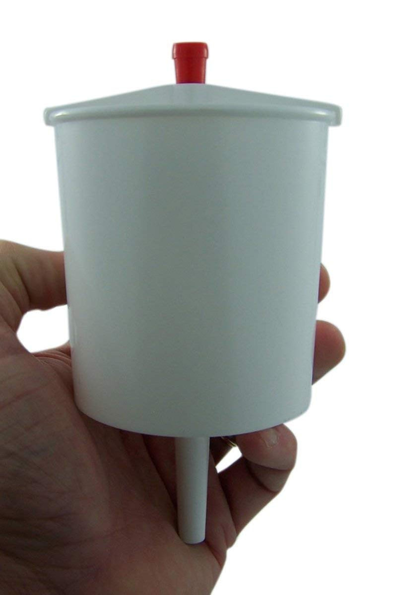 White Plastic 5 Inch Push Button Lever Hand Communion (Up to 25) Cup Filler Church