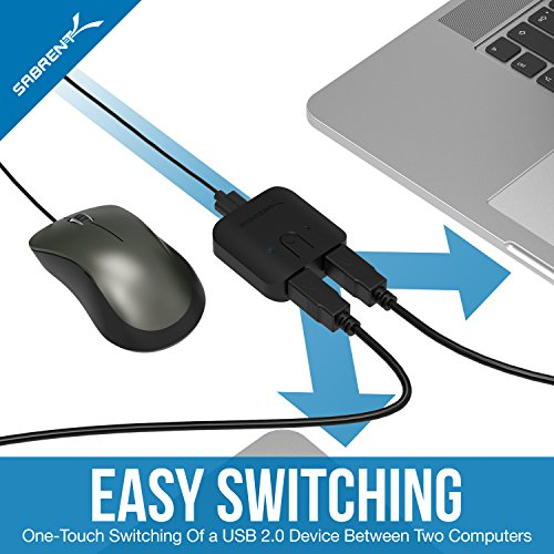 Australia Australia Sabrent USB 2.0 Sharing Switch for Multiple Computers and Peripherals LED Device Indicators (USB-SW20)