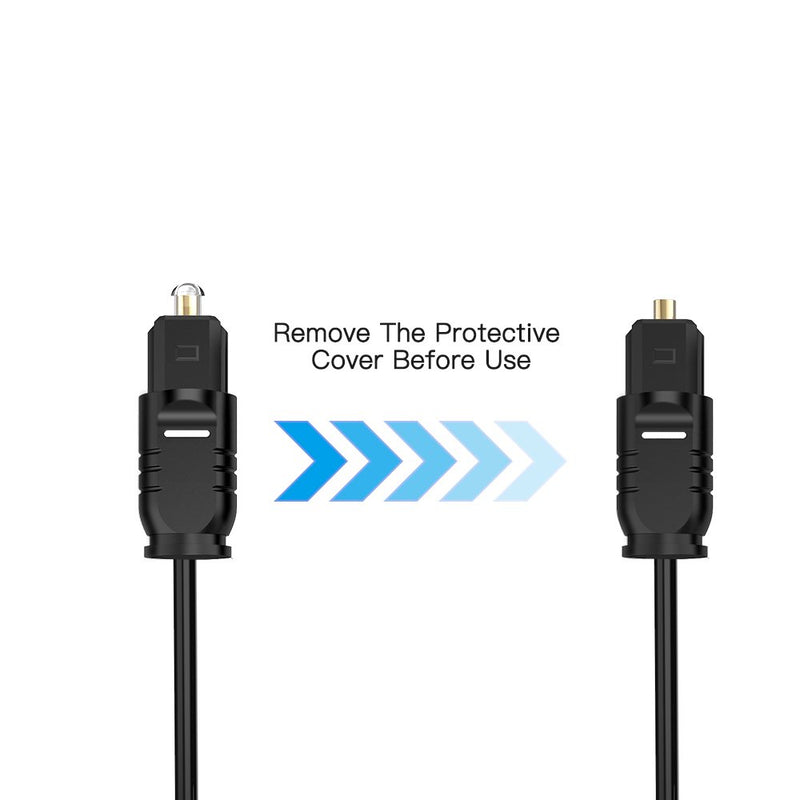 Australia Digital Optical Audio Cable Toslink to Toslink Digital Optical Fiber Audio Cable(6 Feet -3Pack