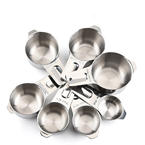 Australia Measuring Cups and Spoons by Colmore Collection - Stainless Steel Metal 13 Piece Set, Classic, Stylish, Stackable for Dry and Liquid Ingredients, Perfect for Cooking and Baking