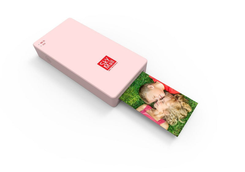 Australia SkyMall Mobile Wi-Fi & NFC Photo Printer with Dye Sublimation Printing Technology & Photo Preservation Overcoat Layer (Pink)