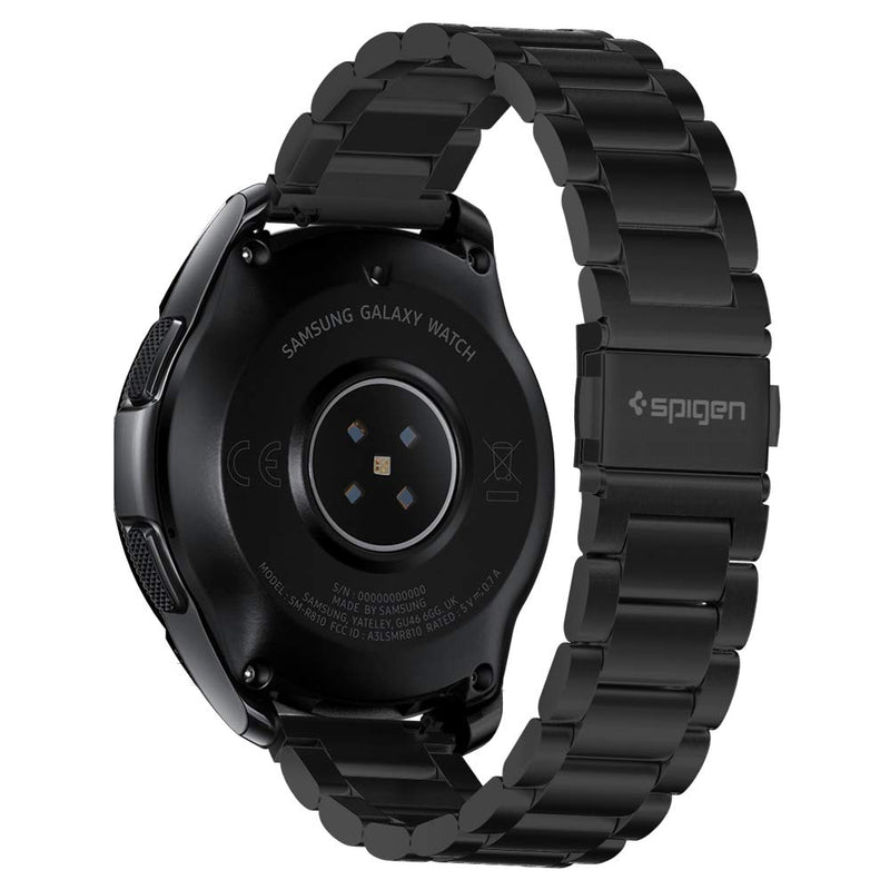 Australia Spigen Modern Fit Designed for Samsung Galaxy Watch Active (2019) / Galaxy Watch 42mm (2018) / Gear S2 Classic (2015), 20mm Smartwatch Band - Black