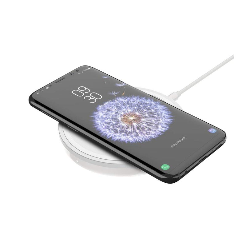 Belkin Boost Up Bold Wireless Charging Pad 10W – Qi Wireless Charger for iPhone Xs, XS Max, XR/Samsung Galaxy S9, S9+, Note9 / LG, Sony and More (White)
