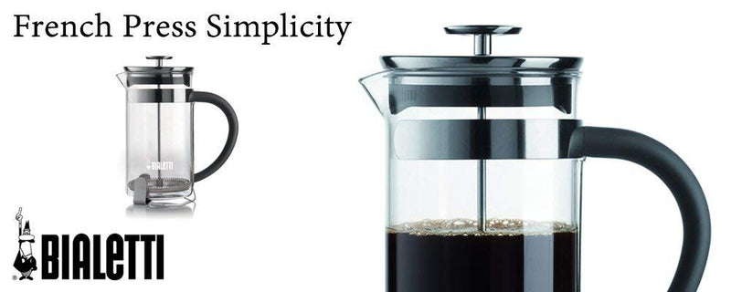 Bialetti, 06706, Stainless Steel Coffee Press , 8 cups , 34 oz , tea, coffee, coldbrew, silver