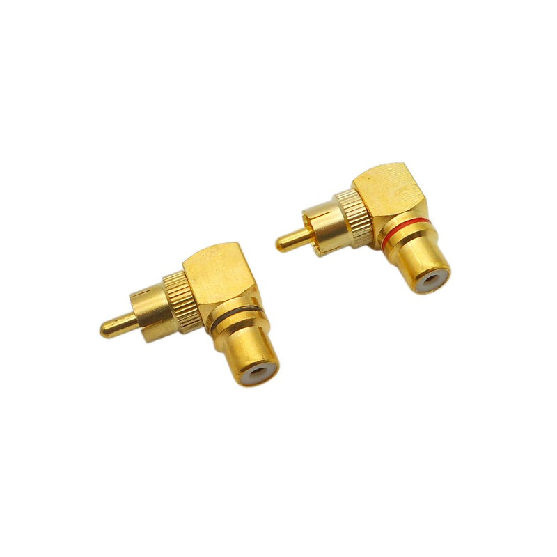 Eightnoo RCA Right Angle Adapter - 90° Female to Male Gold-Plated Connector for Wall mounted TV as Space Saver (6)