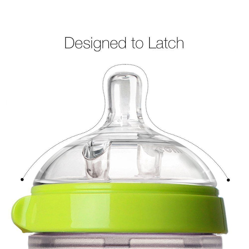 Comotomo Australia Baby Bottle, Green, 8 Ounce, 2 Count