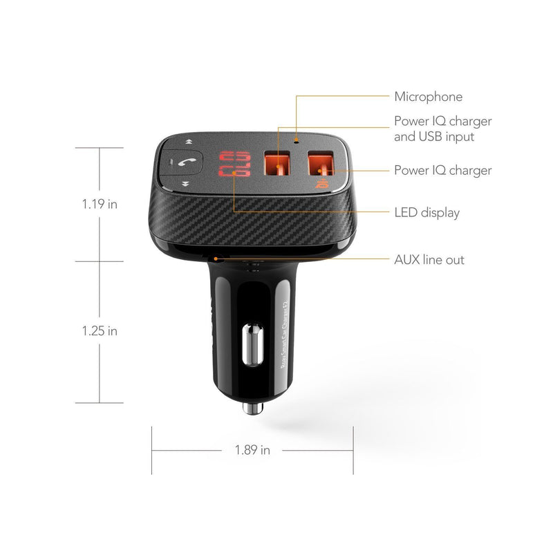 [NEW] Anker Roav SmartCharge Car Kit F2 Wireless In-Car FM Transmitter Radio