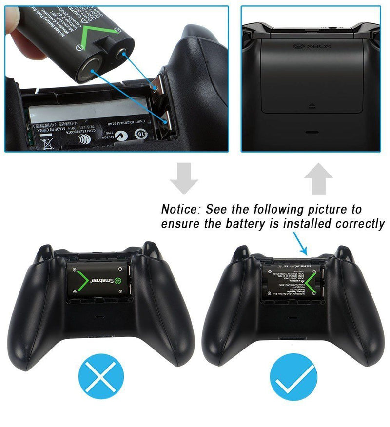 Smatree NI-MH Battery 2000mAH+Dual-Channel Charger for Xbox One