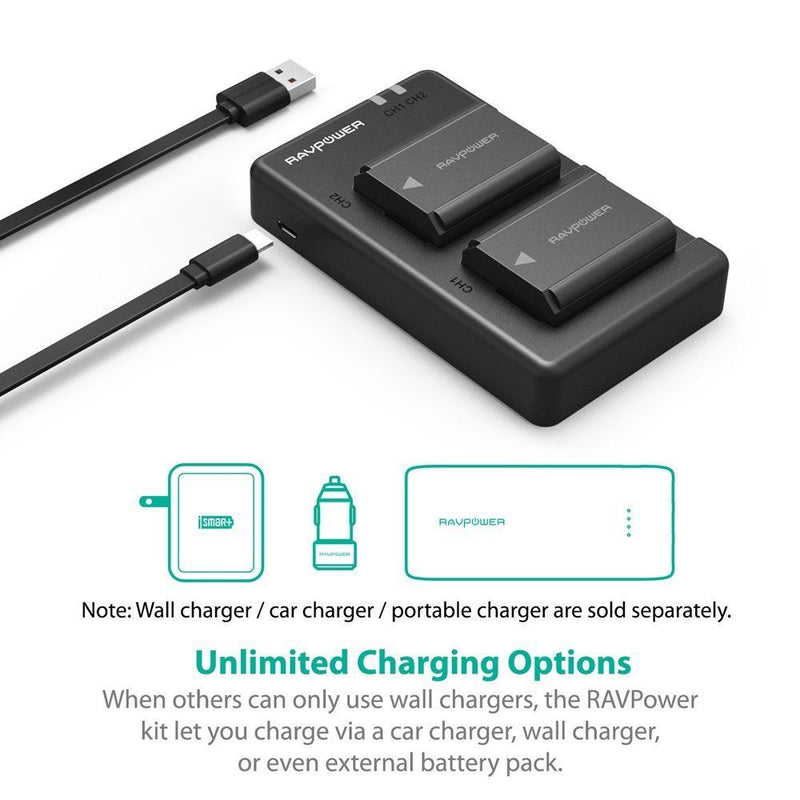 NP-FW50 RAVPower Camera Battery Charger Set for Sony Australia