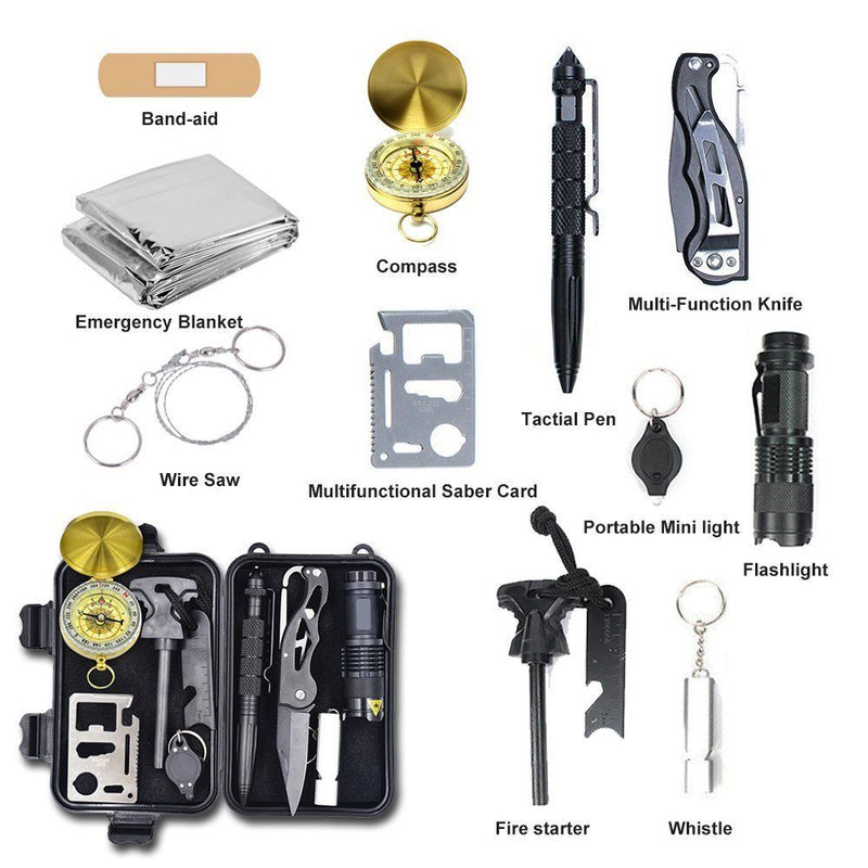 Alritz Survival Kit Lifesaving Emergency Tools, Outdoor Survival Gear