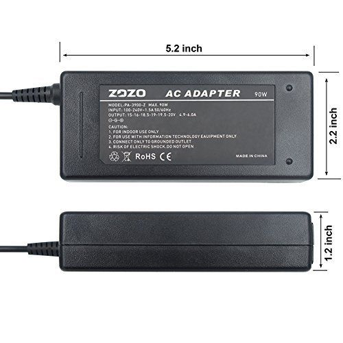 ZOZO 90W AC Laptop Charger Automatic Voltage 15-20V Power Adapter Multi Voltage