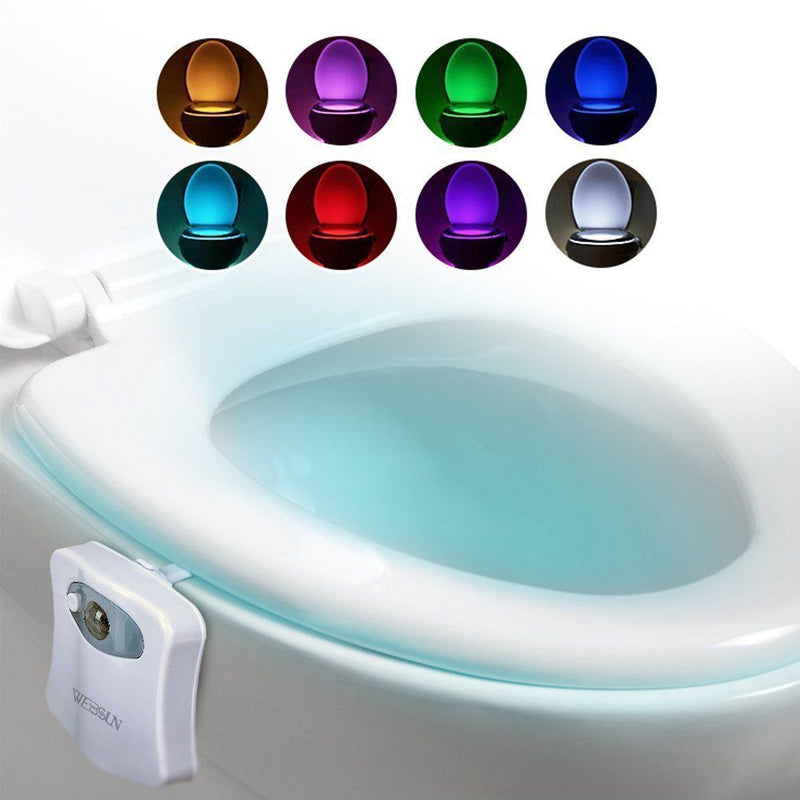 Australia WEBSUN Motion Activated Toilet Night Light 8 Color Changing Led Toilet Seat - CocoonPower Australia