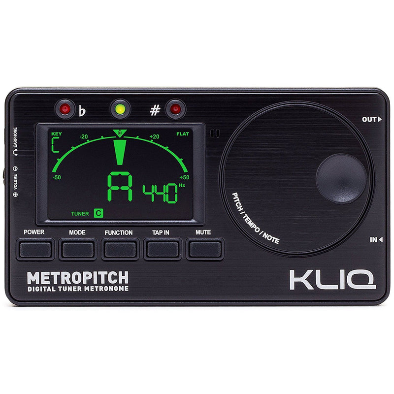 KLIQ MetroPitch-Metronome Tuner for All Instruments -with Guitar, Bass, Violin..