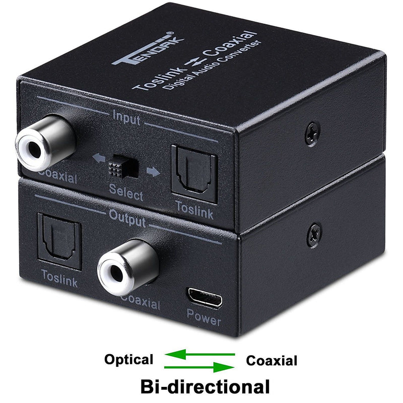 Tendak Bi-directional Switch Digital Audio Splitter Converter Adapter