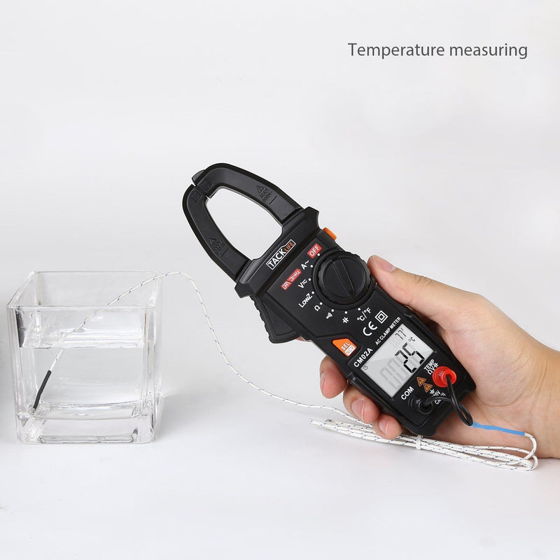 Digital Clamp Meter, Tacklife CM02A 600 Amp TRMS 6000 Counts NCV