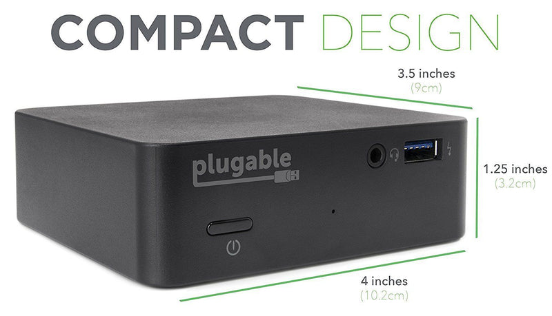 Plugable USB-C Mini Docking Station with 85W Charging for Thunderbolt 3