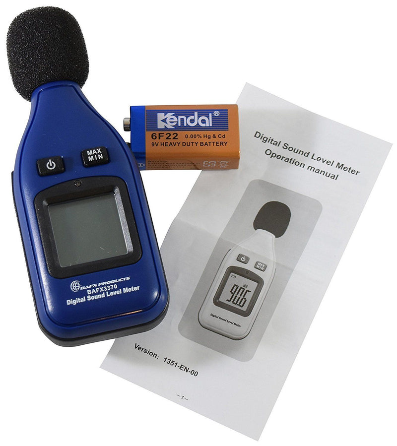 Australia Decibel Meter / Sound Level Reader BAFX Products With Battery 30dBA ~ 130dBA