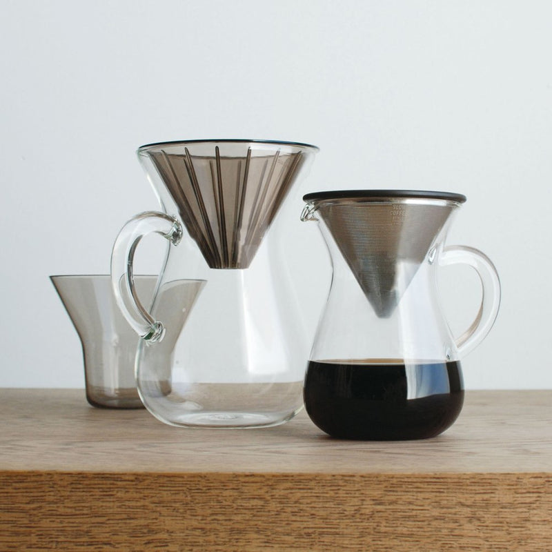 "300 ml (2 Cups) Carafe Coffee Set with 20 Filters by Kinto for ""Slow"" Coffee"