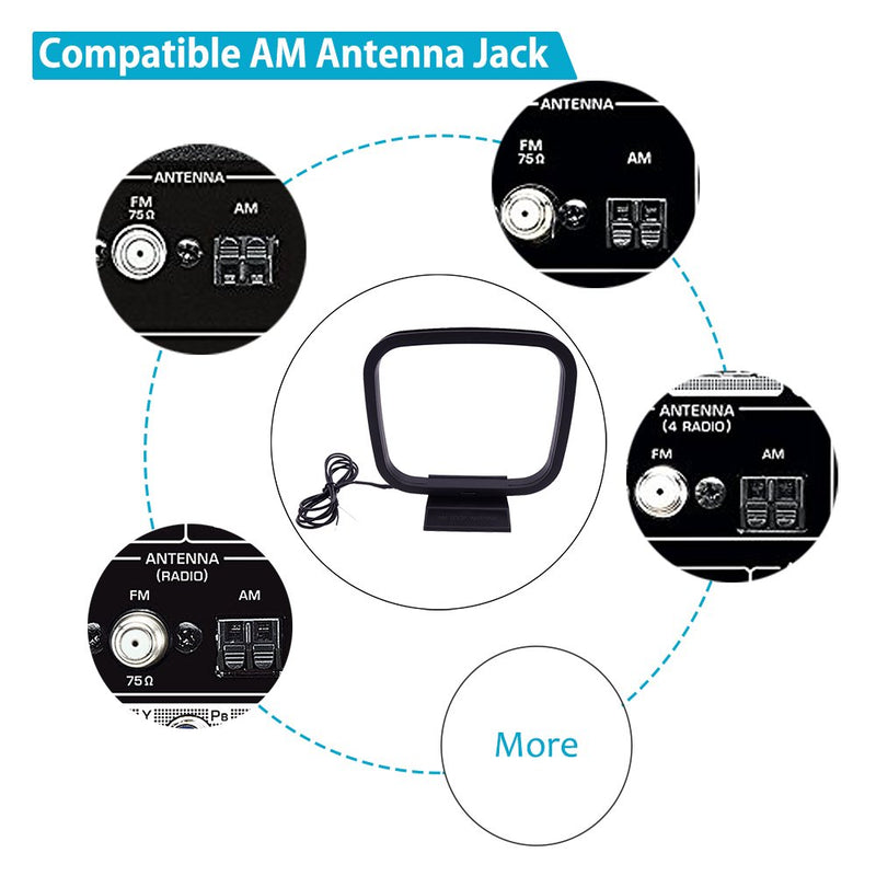 Australia Fancasee AM Loop Antenna 2 Pin Bare Wire Connector AM Antenna Cable Wire for Table Top Home Stereo Receiver Radio Receiver