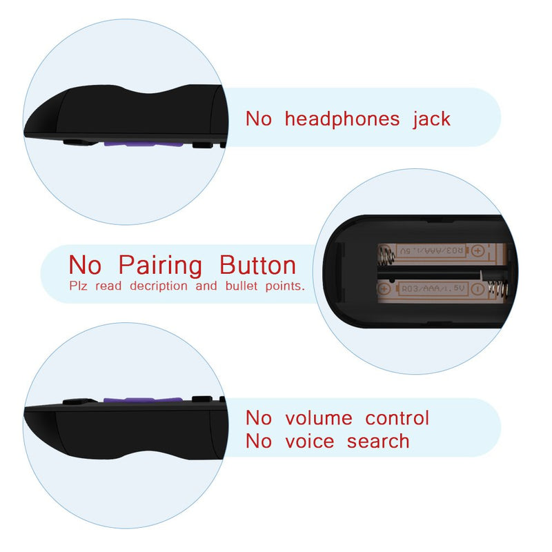 Gvirtue Remote Control Compatible with Roku Models, if