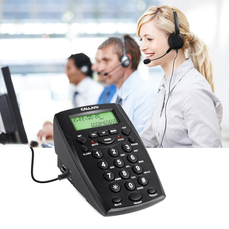 CALLANY Call Center Telephone with Noise Cancellation Headset HT500