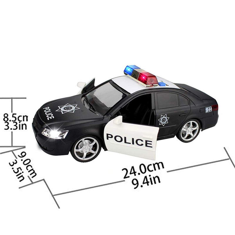 Australia Liberty Imports Friction Powered Police Car 1:16 Toy Rescue Vehicle with Lights & Siren Sounds