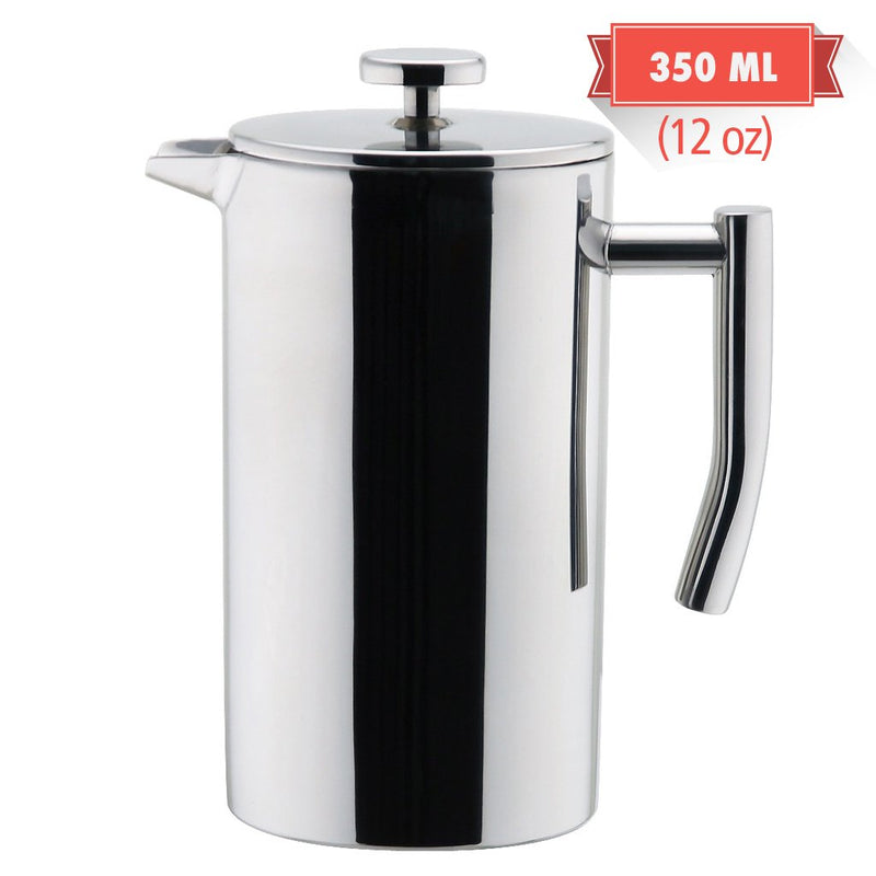 Australia MIRA Stainless Steel French Press Coffee Maker | Double Walled Insulated Coffee & Tea Brewer Pot & Maker | Keeps Brewed Coffee or Tea Hot | 12 Oz (350 ml)
