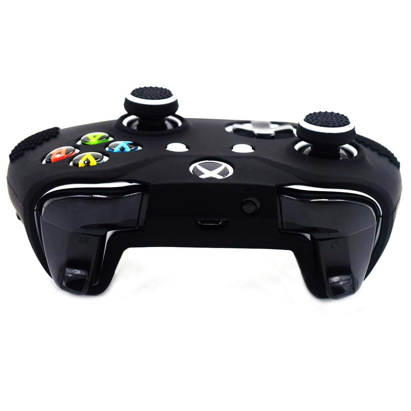 Australia Taifond Anti-Slip Silicone Controller Cover Protective Skins for Microsoft Xbox One S & One X Controller with Two Thumb Grips Caps (Black)