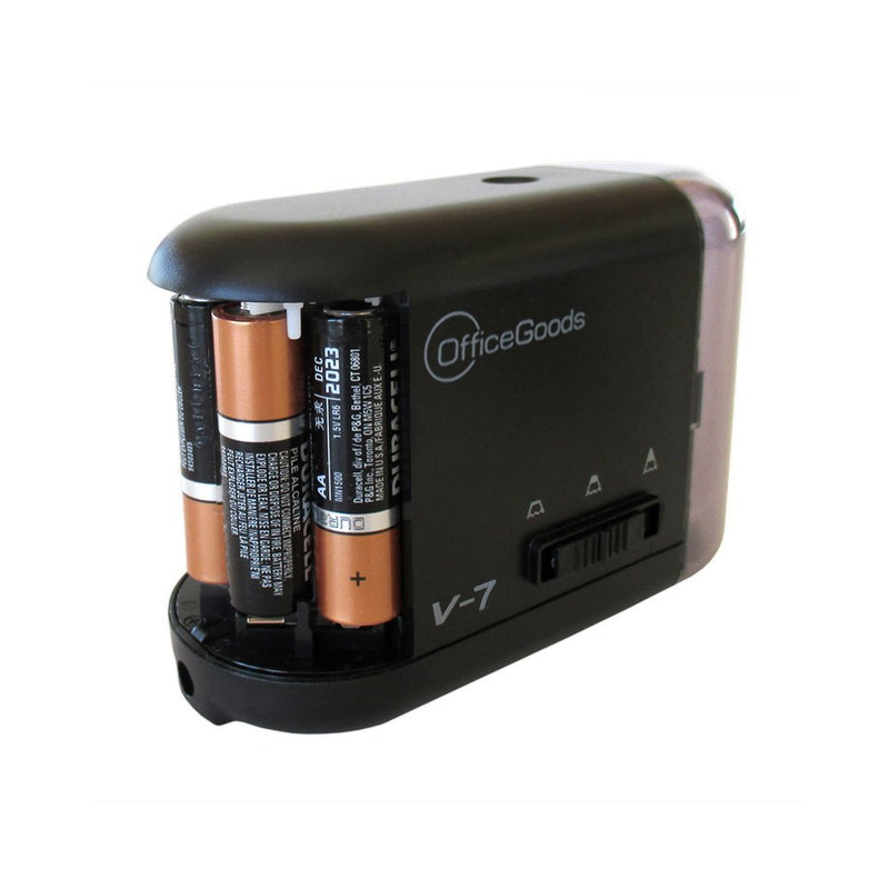 Electric & Battery Operated Pencil Sharpener - for Home Office & School, Sharpens Evenly Every Time, Great for Everyone that Wants the Perfect Point (Black)