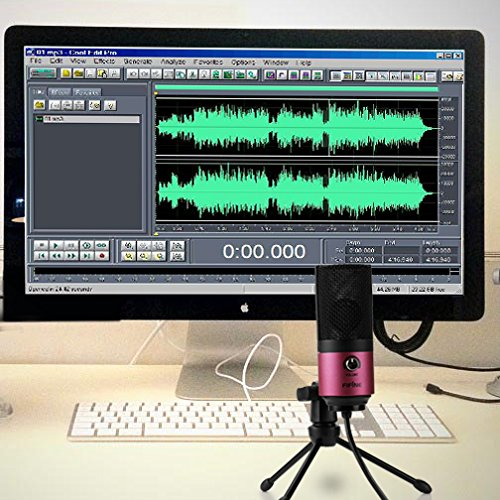 Fifine Usb Podcast Condenser Microphone Recording On Laptop, No Need Sound...