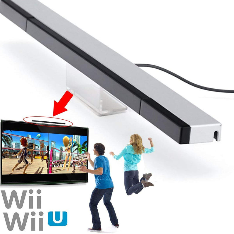 Australia KIMILAR Replacement Wired Infrared IR Ray Motion Sensor Bar Compatible Nintendo Wii and Wii U Console (Silver/Black)