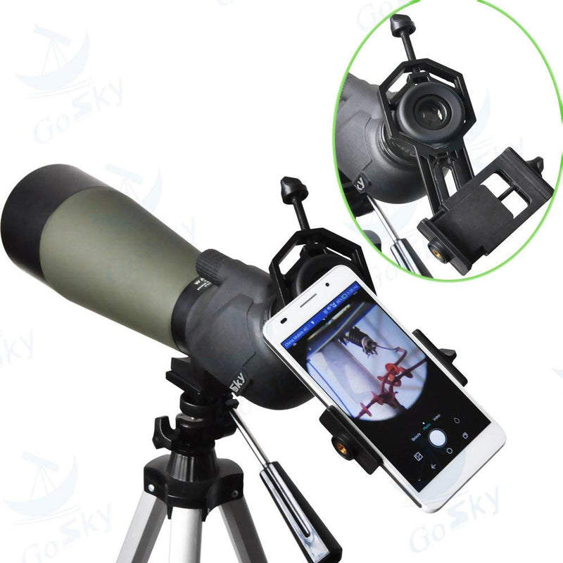 Gosky Big Type Universal Smartphone Adapter Mount for Spotting Scope Telescope Binocular Monocular, Black