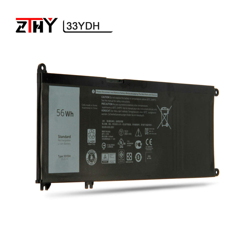 Australia ZTHY 33YDH Laptop Battery Replacement for Dell Inspiron 17 7000 7773 7778 7779 2in1 G3 15 3579 G3 17 3779 G5 15 5587 G7 15 7588 Latitude 14 3490 15 3590 3580 PVHT1 56Wh 4-Cell 15.2V 3500mAh