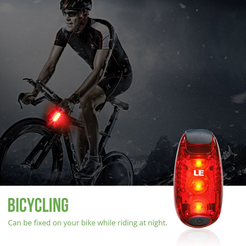 Australia LE LED Bike Light, Bicycle Rear Light, 3 Lighting Modes, Clip On Cycling Taillight, Batteries Included