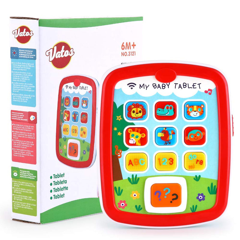 Australia VATOS Toddler Learning Tablet for 1 Year Old, Baby Ipad for 6M -12M -18M+ with Music & Light, Travel Toy Tablet with Easy ABC Toy, Numbers & Color | My First Learning Tablet