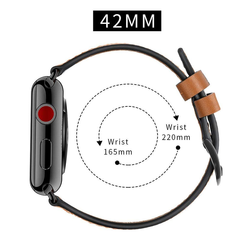 Australia ZEIGER 38MM 40MM or 42MM 44MM Calfskin Leather Band for All iwatch Versions Variety of Styles and Colors Genuine Leather Watches Strap for IWatch Sport, Edition, Series 4, Series 3, Series 2, Series 1