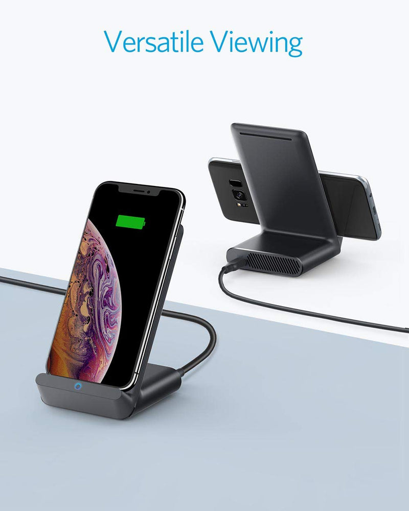 Anker PowerWave 7.5 Fast Wireless Charging Stand with Internal Cooling Black - CocoonPower Australia