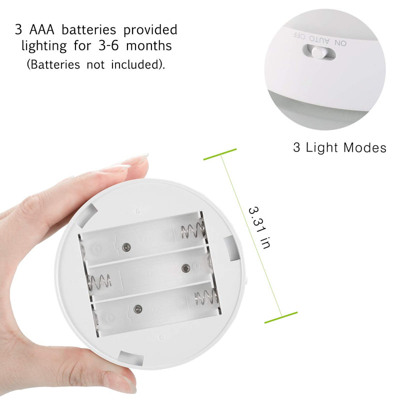 Australia Fitfirst Motion Sensor Closet Light, Smart Sensor Cordless LED Light, Warm White Stick-On Nightlight, Battery-Powered Auto-On/Off Security Light for Stairway, Closet, Bedroom, Hallway (4 Pack)