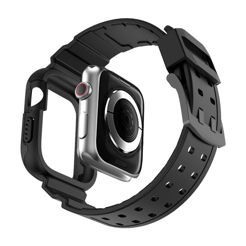 Compatible for Apple Watch 4 Case 44mm,Rugged Protective Case with Strap Bands,Compatible...