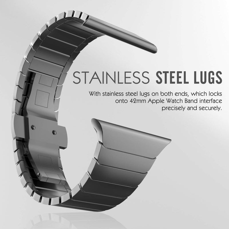a26c86d0e58047 ... Surace Stainless Steel Link Bracelet Replacement for Apple Watch Series  4 44mm Band with Butterfly Folding ...