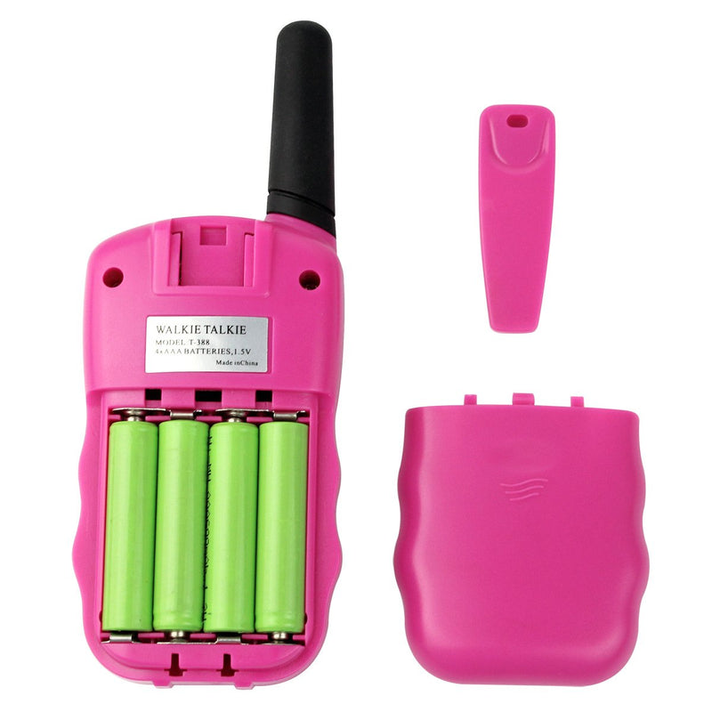Australia Retevis RT-388 Kids Walkie Talkies Rechargeable FRS Toy Gift 22 Channel Walkie Talkies for Kids (Pink,1 Pair)
