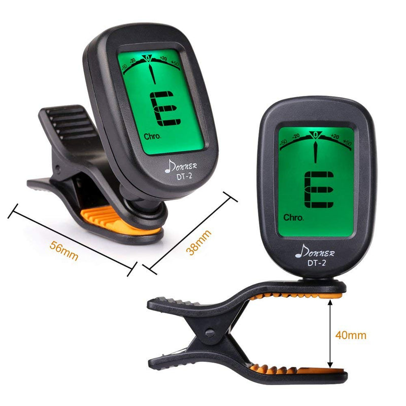 Australia Donner Guitar Tuner Clip on-Accurate Chromatic,Acoustic Guitar Bass Violin Ukulele Tuner DT-2