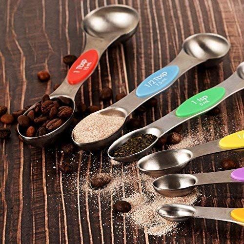 Australia Mini Stainless Steel Measuring Spoons - Tiny Tablespoon Magnetic Measuring Spoon Set for Dry or Liquid Ingredient, Set of 7