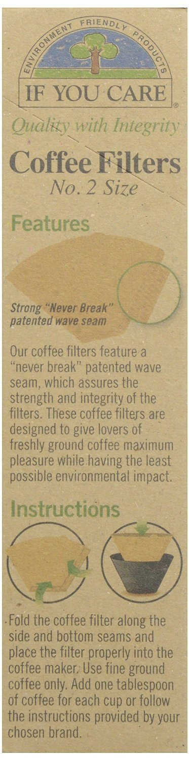 Australia If You Care Coffee Filter No. 2 Size, Compostable, Unbleached, 100-count, 3-pack (300 Filters Total)