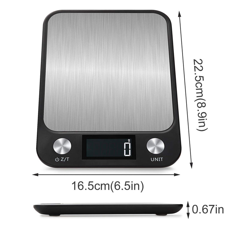 Australia Leandro Digital Food Scale,Multifunction Kitchen Scale,22 lb 10 kg,Large Gram Scale for Cooking and Baking,Large Backlit LCD Display,Sensitive Touch Function Key,Black,Batteries Included