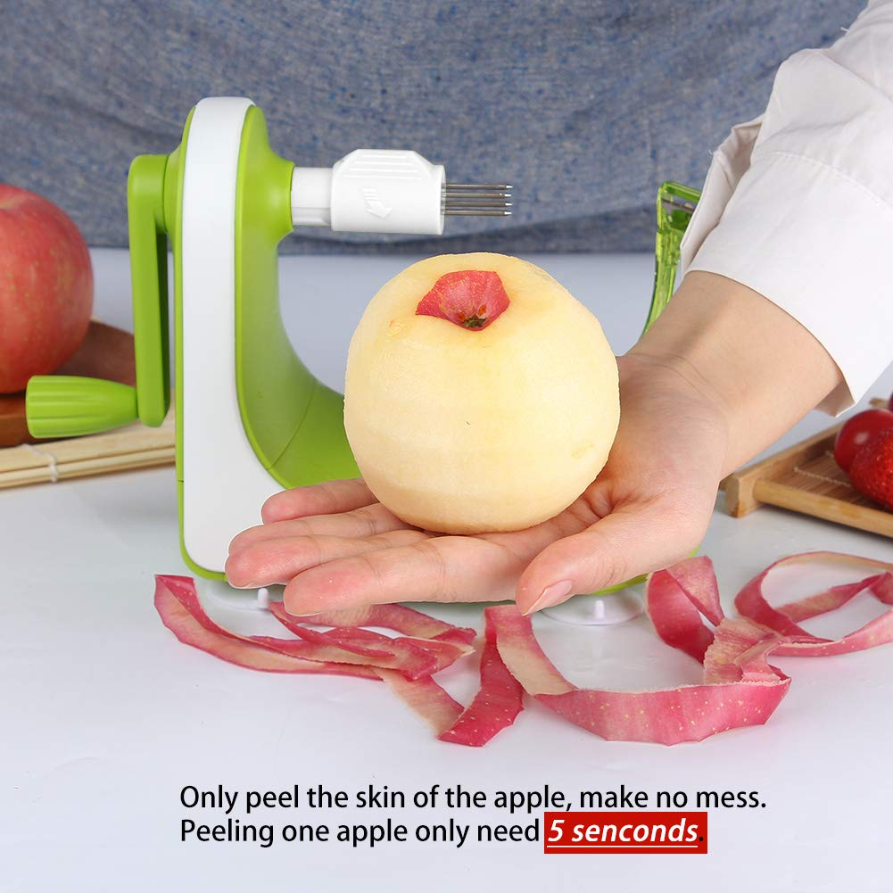 Green Peeling a Fruit in Seconds Ourokhome Rapid Apple Pear Peeler