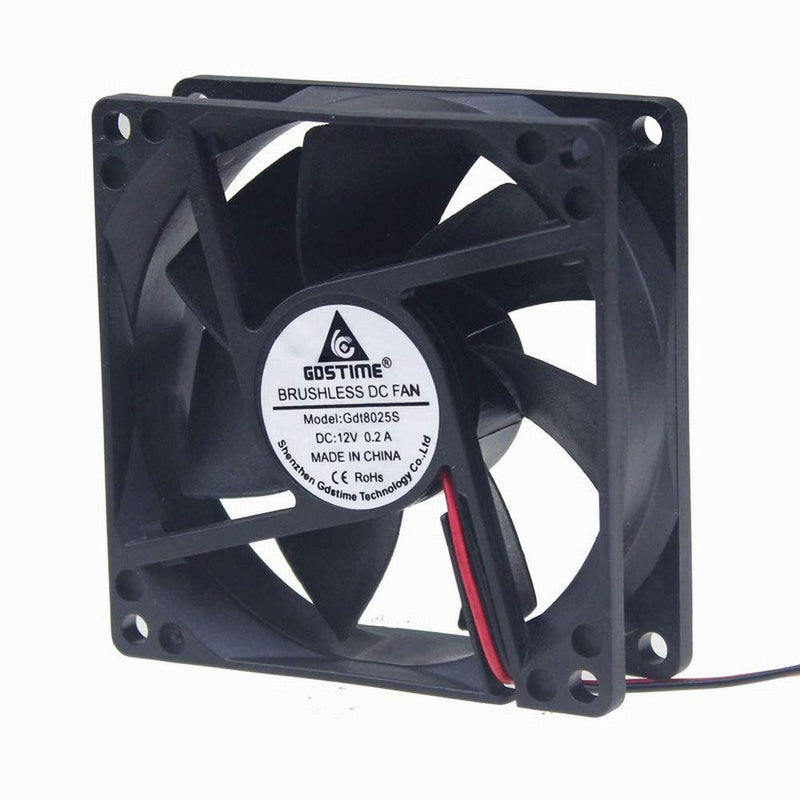 Australia GDSTIME 80mm x 80mm x 25mm 12V Brushless DC Cooling fan
