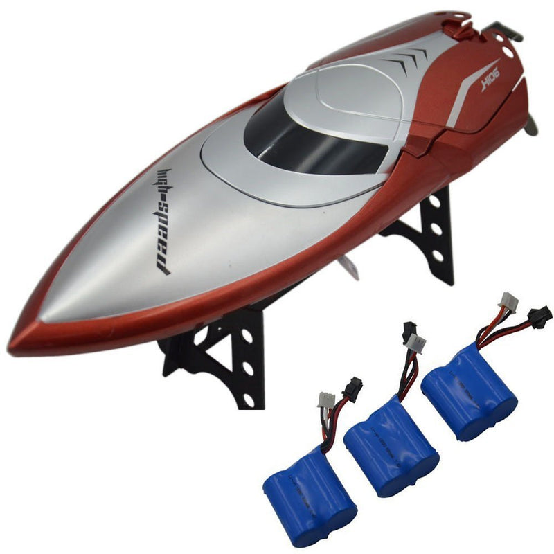 Australia Blomiky H106 2.4GHz Racing RC Boat for River Lake or Pool-High Speed Remote Control Boat for Adults and Kids Bonus 2 Battery H106