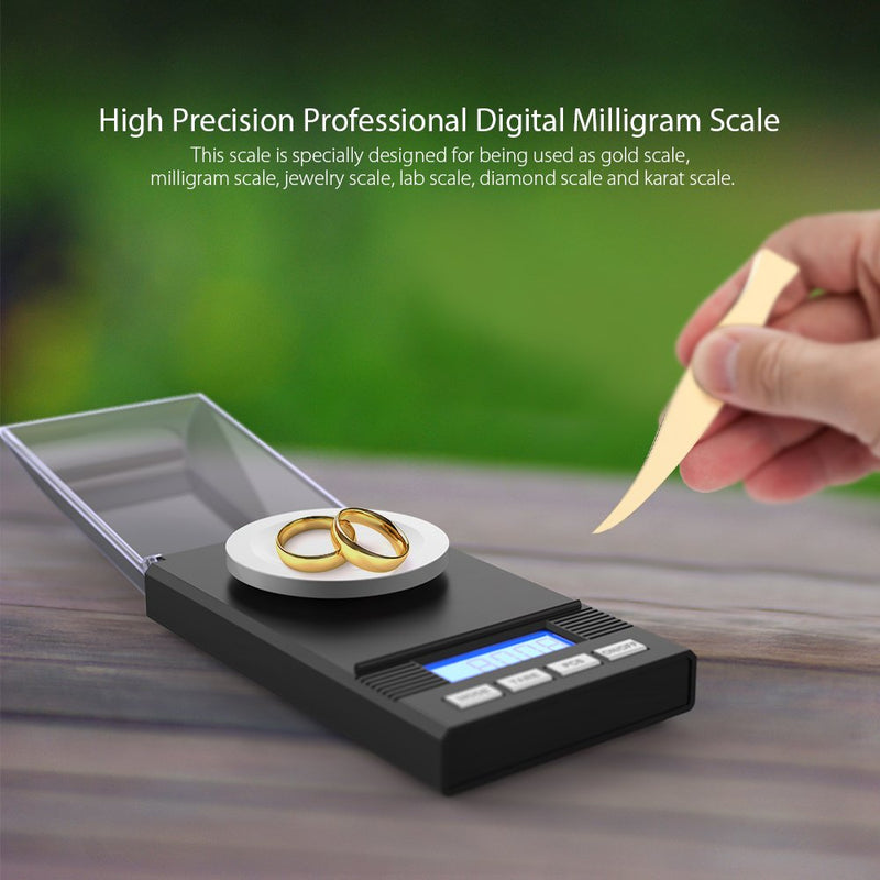 Australia Homgeek Digital Milligram Scale 50 x 0.001g, Pocket Lab Scale Mini Jewelry Gold Powder Weigh Scales with Calibration Weights Tweezers, Weighing Pans, LCD Display